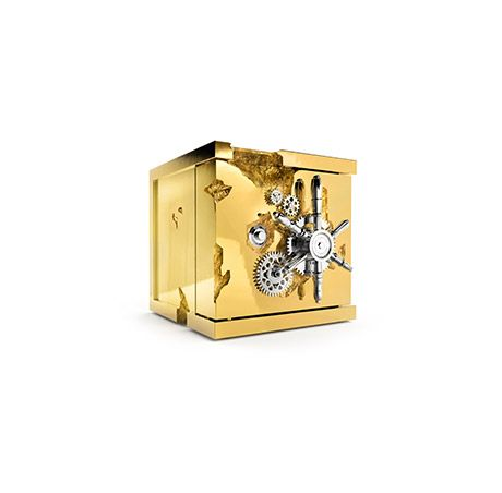 The small version of Boca do Lobo's Millionaire Safe is perfect to keep your deepest secrets even more secure. www.bocadolobo.com