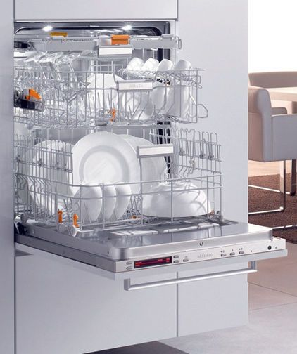 Once you see a raised dishwasher, you will wonder why dishwashers were ever designed to be placed down to the floor. If you have the room to do this, it's wonderful for those with bad joints or knee problems. Universal design is in the forefront of state-of-the art design. (via Houzz)