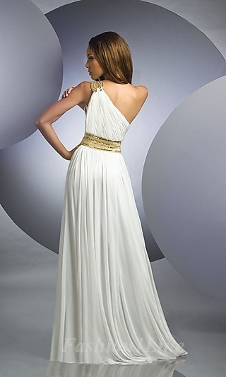 Would love this for a possible beach wedding? One-shoulder looks good on me I think