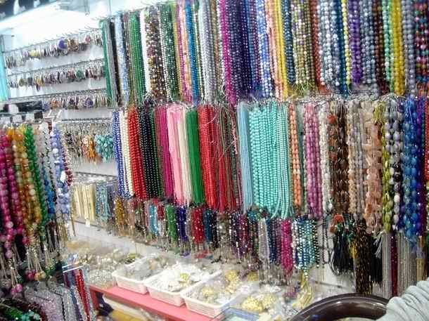 Rows and rows of gemstones in Dragon Mart, Dubai