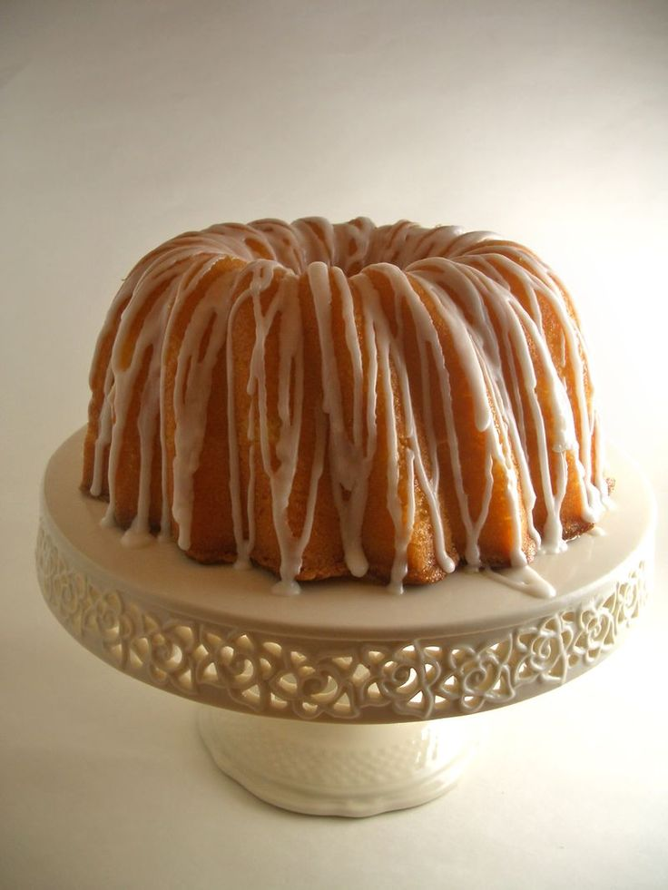 Lemon Sour Cream Pound Cake.  I will have to bake this in two pans, buy a bigger Bundt pan, or cut down this recipe because it NEEDS a 12-cup Bundt pan.