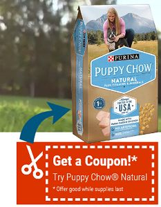 BOGO FREE Purina Puppy Chow Dog Food 4.4lb or smaller Bag Coupon on http://hunt4freebies.com/coupons
