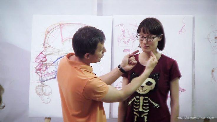 Первая часть цикла анатомических лекций Александра Рыжкина на Кружке скорого рисунка в июне 2014 года. О пропорциях головы, черепе и мимических мышцах. 2:40:...
