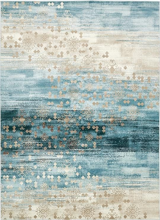 Dark Blue Mirage Area Rug