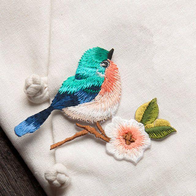 """מכירה 7*8.5 ס""""מ ציפורים שמלות רקמת תיקון ברזל על תיקונים לבגדי DIY אבזר משלוח חינם"""