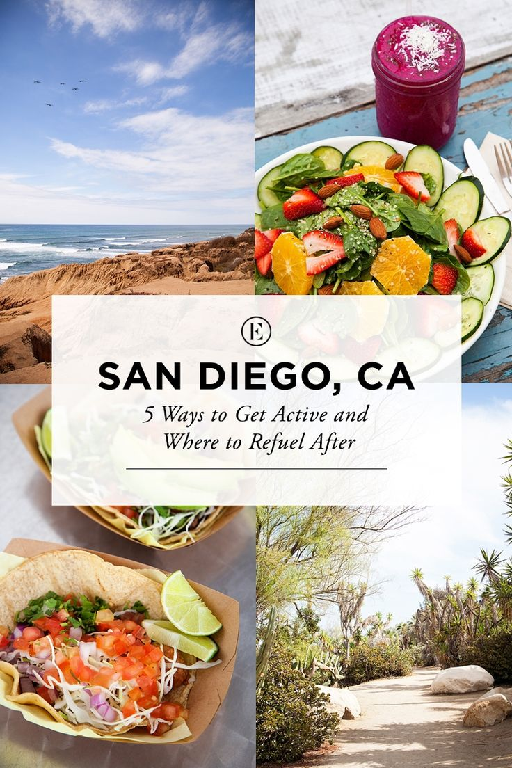 San Diego: 5 Spots to Get Active and Where to Fuel Up After #theeverygirl