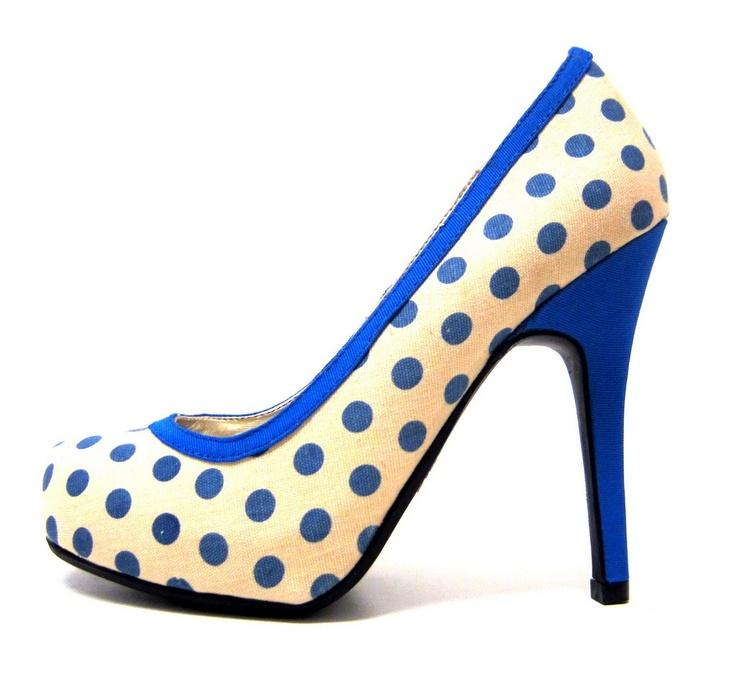 Női magassarkú cipő L2982 kék