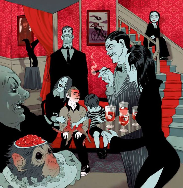 Tomer Hanuka (a darker view of the Addams Family)