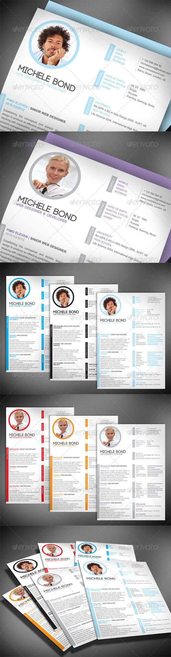 Modern Professional Resume 26 best Employment Overview