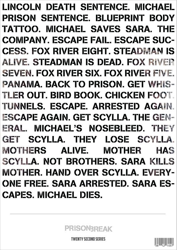 Prison Break. 4 Seasons, 81 Episodes or 20 Seconds.