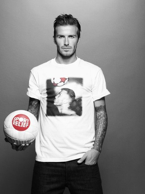 David Beckham mit coolem Potraitshirt #Potrait #Shirt #DavidBeckham