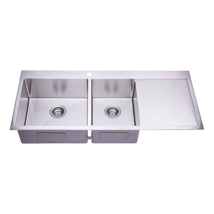 Bai 1235 48 Handmade Stainless Steel Kitchen Sink Double Bowl With Drainboard Top Mount 16