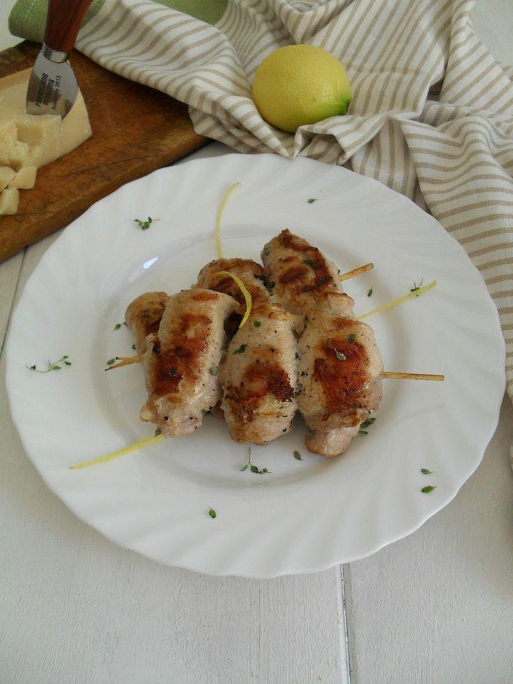 Spiedini di lonza con zucchine e Parmigiano Reggiano