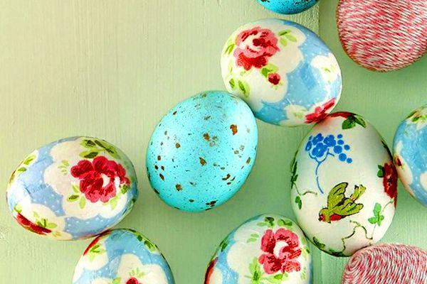 Украшаем яйца к Пасхе