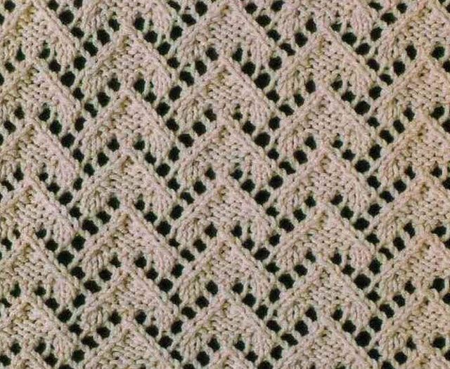 Knitting Help Russian Join : Stunning lace triangles stitch pattern this chart uses
