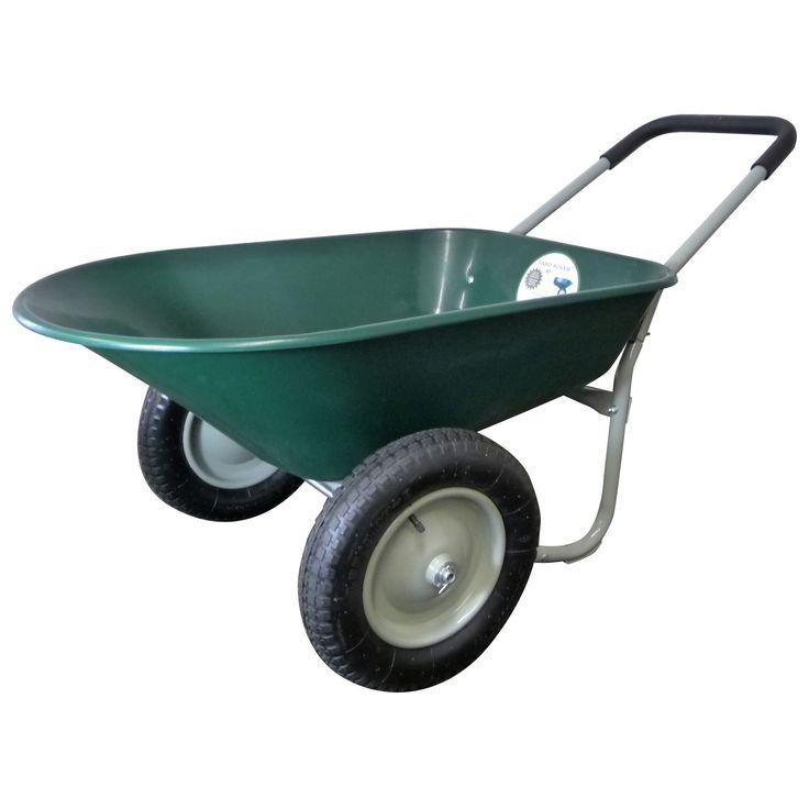 Marathon Industries 70015 5 Cubic Feet Green Poly Wheelbarrow  (Wheelbarrows) (Plastic)