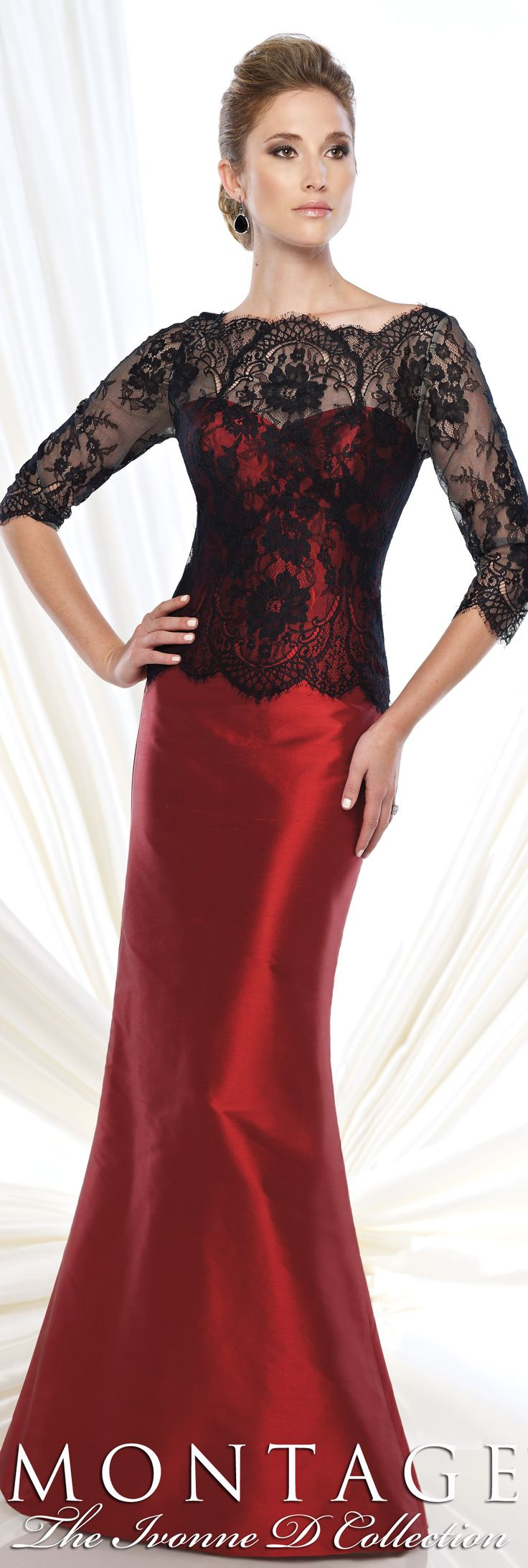 Montage The Ivonne D Collection Fall 2015 - Style No. 215D07 #redeveninggowns