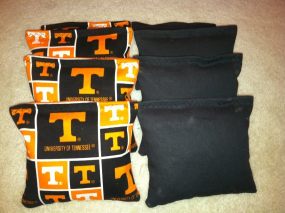 "UT University of Tennessee Volunteers ""Vols"" Cornhole Bags Set of 8 on Etsy, $22.95"