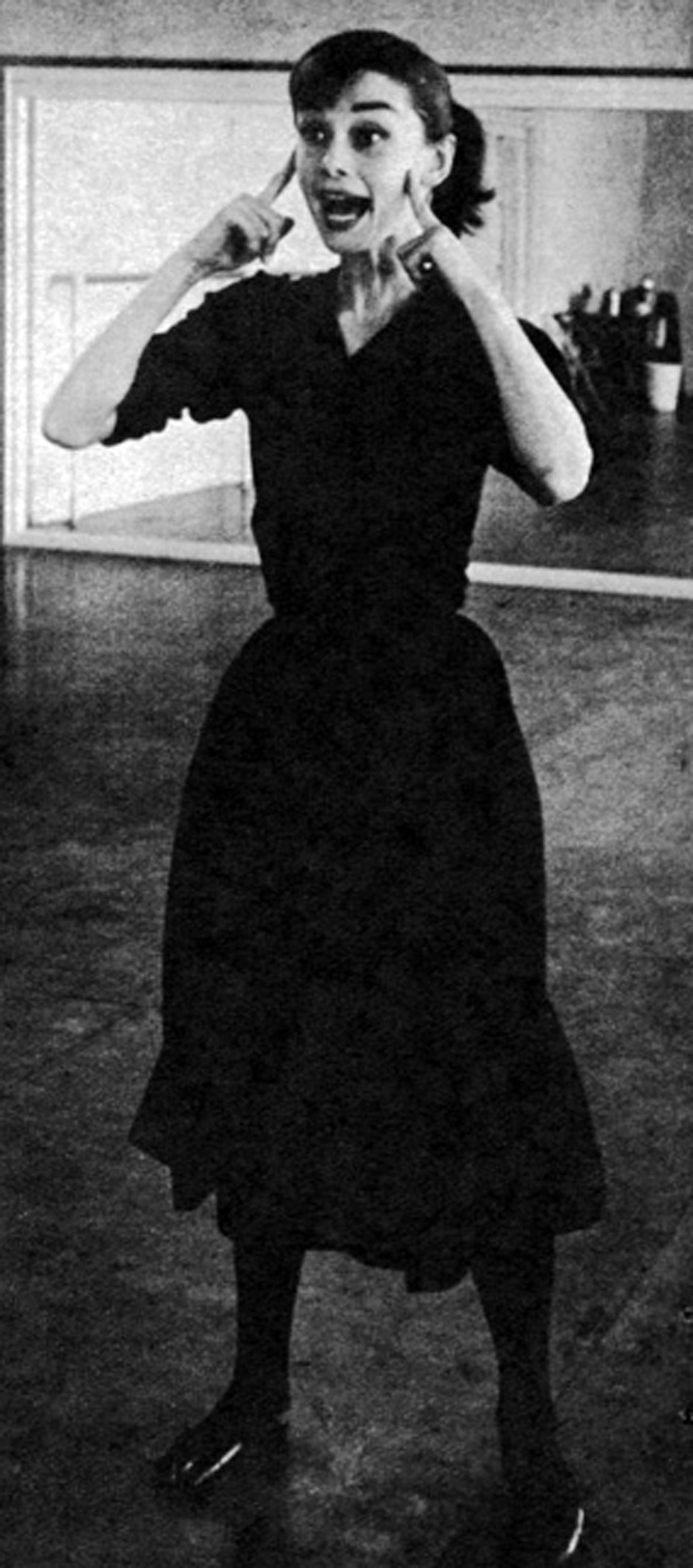 Audrey Hepburn, 1956 (Dance rehearsal for Funny Face)