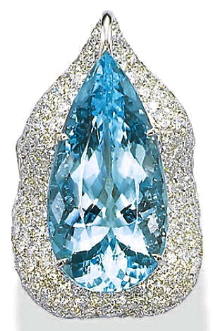 Margherita Burgener Aquamarine & Diamond Ring | Christie's