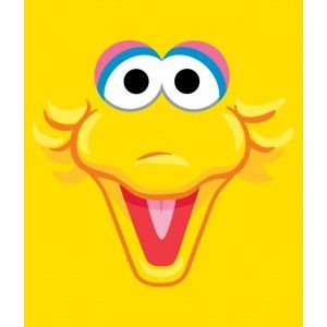 Big Bird Face for design | Birthday Party | Elmo + Sesame ...