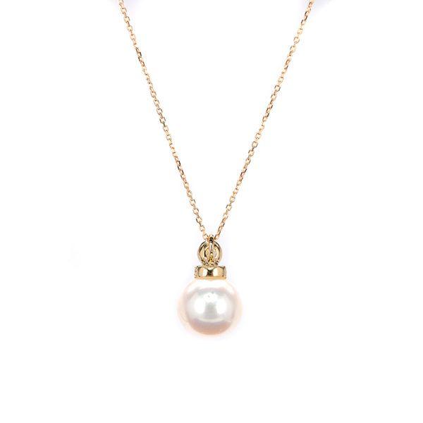Κολιέ μαργαριτάρι χρυσό Κ14   7106