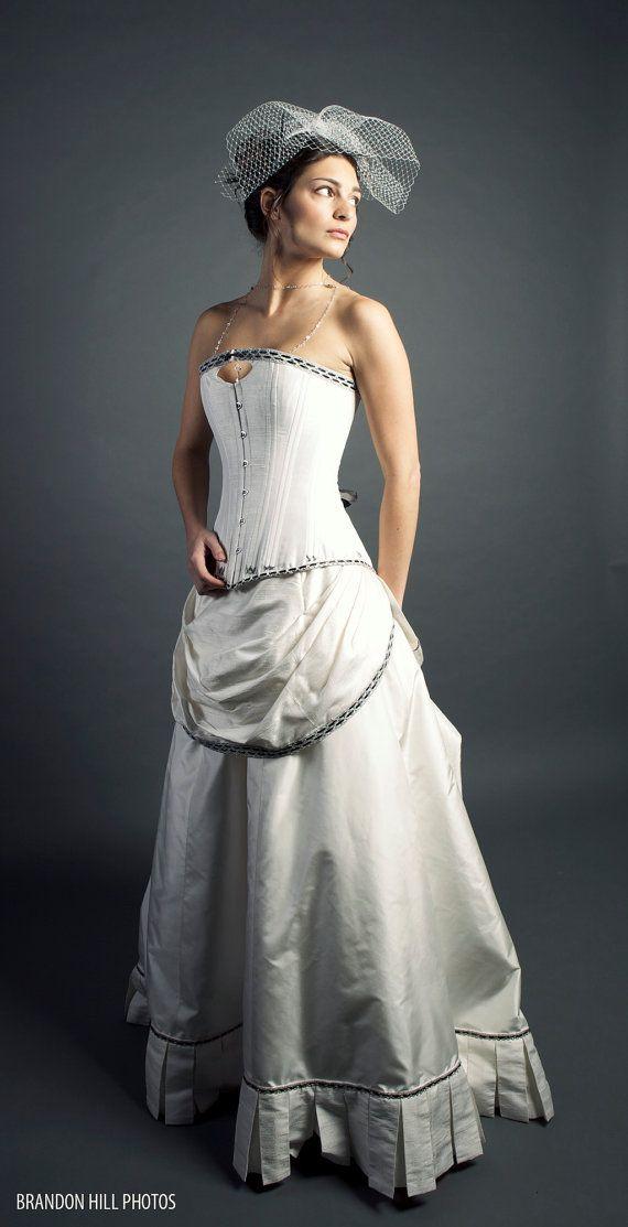 Best 25 steampunk wedding dress ideas on pinterest for Steampunk corset wedding dress