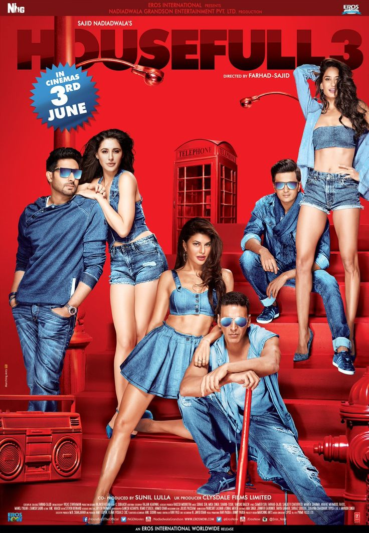 "Jacqueline Fernandez on Twitter: ""#Housefull3Posters are out.❤ Get ready for more fun now  https://t.co/0dowJJS3eh"""