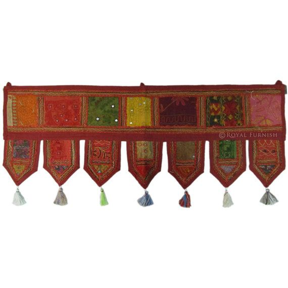 38x14 Indian Handmade Window Valance Topper Toran by RoyalFurnish, $19.99