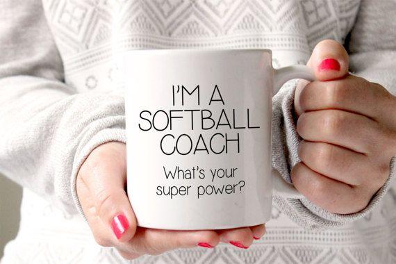 Softball Coach Gift - Gift for Softball Coach - Personalized Coach Gift - Coffee Mug - Unique Gift Idea - Funny Gift - Coach Gift Idea