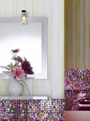 Pink Decorating | Colorful contemporary bathroom cabinets are very attractive and ...