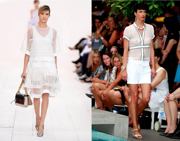 Fashion trend we love: white   The fashion world can't get enough of white, as seen on the runway at Chloé