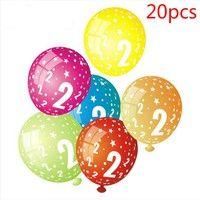 20pcs 12inch 3.2g Number 1-9 Latex Balloons Printing Kids Birthday Party Decoration Balloon