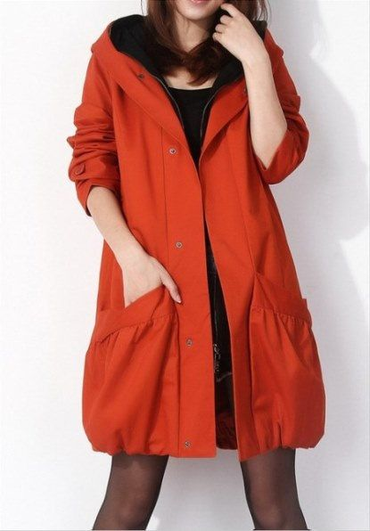 Orange commoner style large size windbreaker jacket by ElegantGens