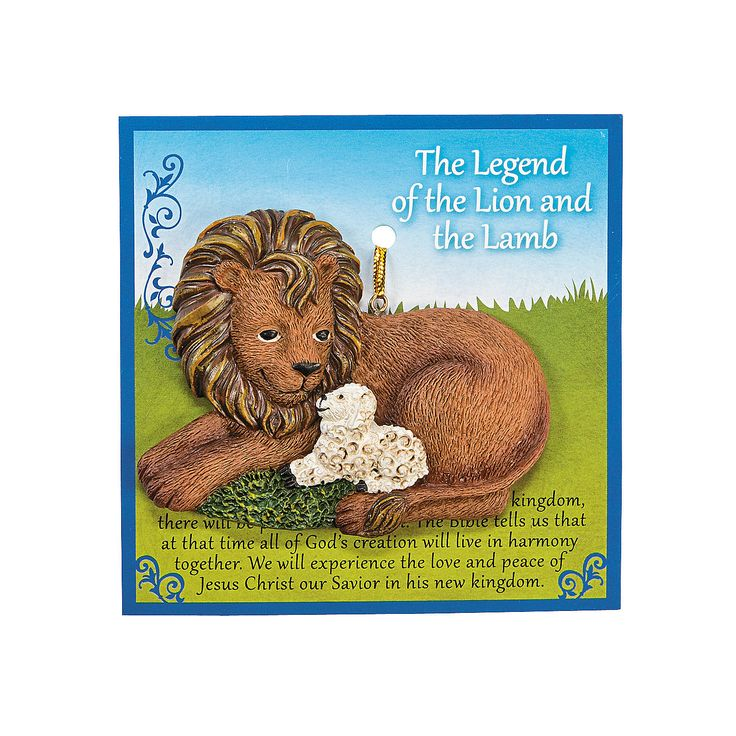 Legend of the Lion & the Lamb Ornaments with Card - OrientalTrading.com
