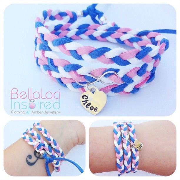 Faux Suede Infinite Love Wrap Bracelet. Sterling silver with handstamped heart.  www.facebook.com/bellalaciinspired