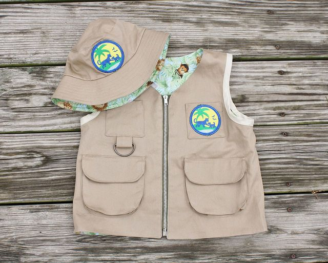 Diego Explorer Vest With Bucket Hat Patterns From Oliver