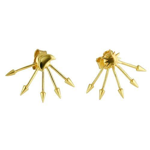 Angle Diamond Dot - Polar Opposites Earrings Silver - Gravity of Attraction - Collection - Jewellery Semi Precious Stones Australia