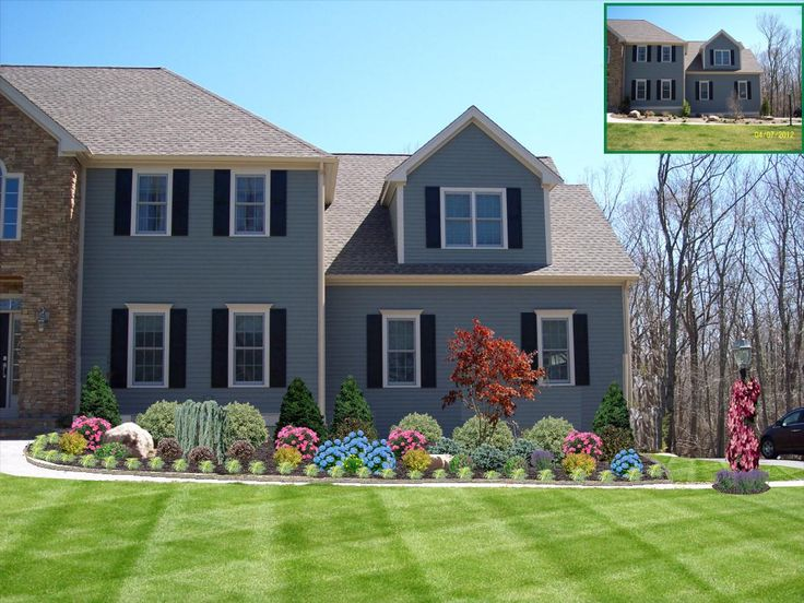 45 best images about front of home landscape designs on for Georgian home landscape design