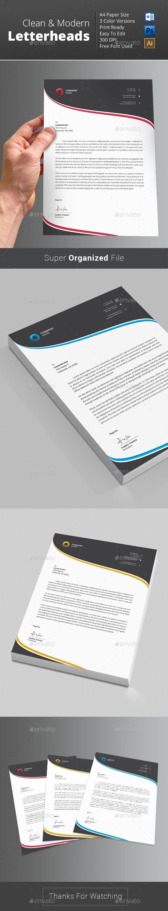 #Clean, #Letterhead Template..Download here:http://graphicriver.net/item/letterhead-template-/12987178?ref=arroganttype