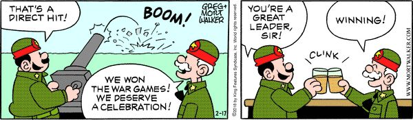 Beetle Bailey strip for February 17, 2018
