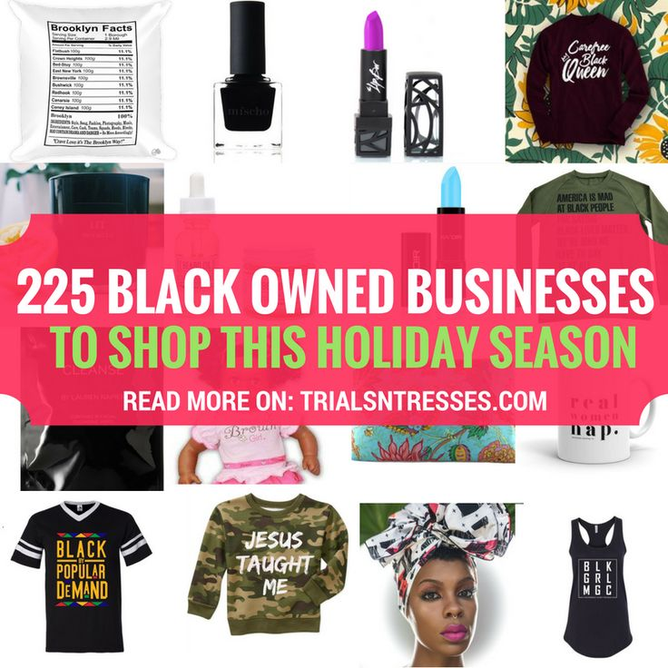 225 Black Owned Businesses To Shop This Holiday Season: This year now more than ever we need to spend wisely so I've curated a giant mega list of 225 black businesses to shop this holiday season.