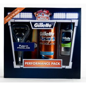 "Gillette Fusion Proglide Performance Pack with Bonus ""Sports Illustrated"" Subscription"