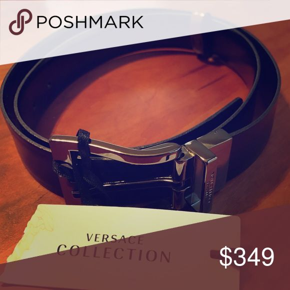 Versace Men's Belt Brand new, black leather Versace belt with tags. Size 90. Versace Accessories Belts