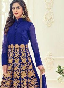 Krystle Dsouza Blue Floor Length Anarkali Suit