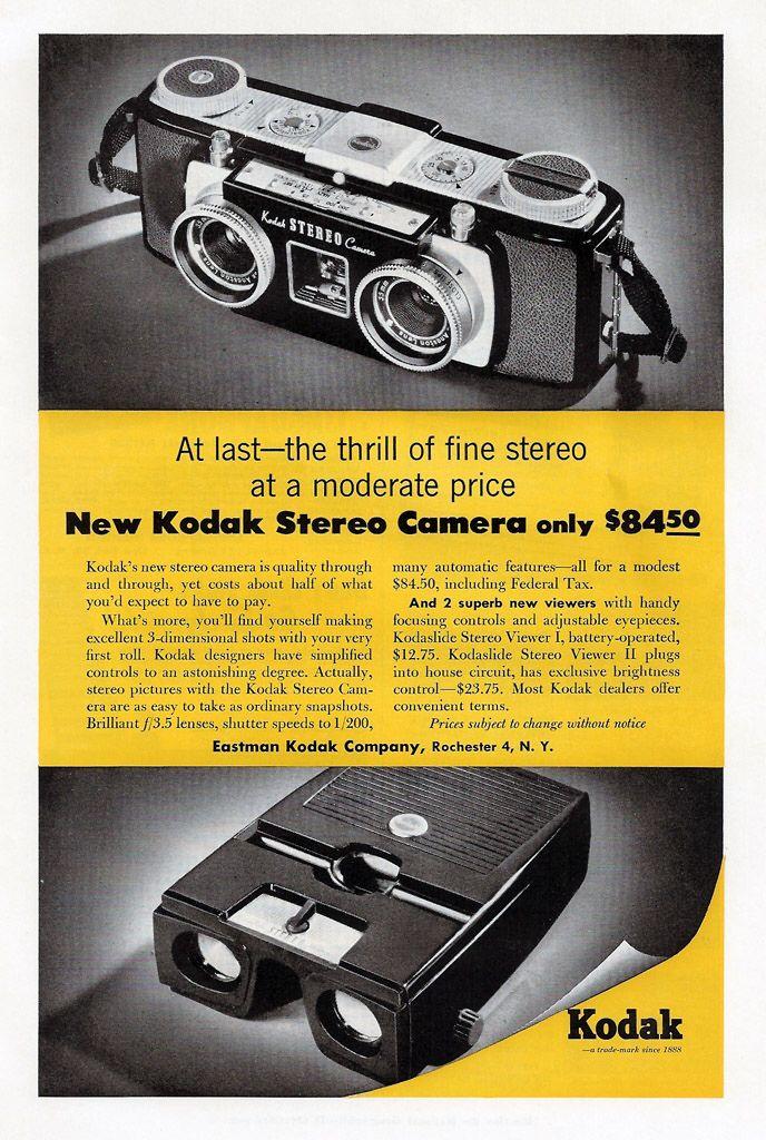 Kodak Stereo Camera - 1954
