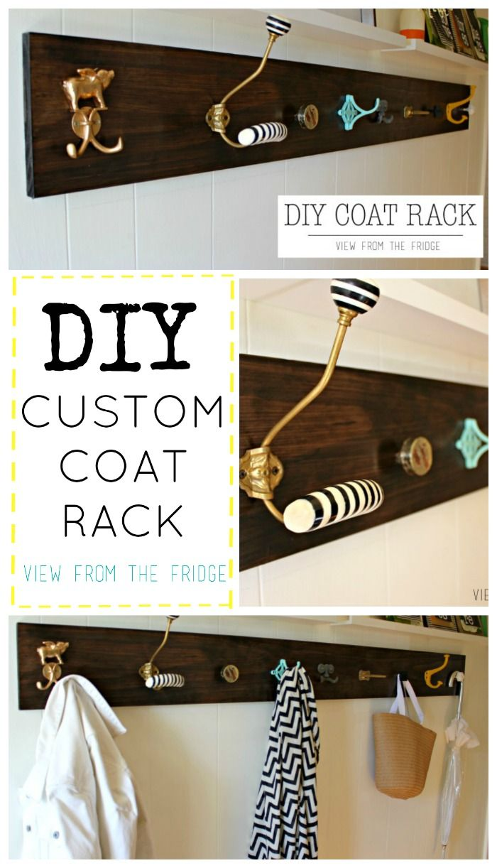 A DIY Custom Coat Rack.  Realising - now that we're thinking about it - that a coat rack would be an easy thing to make! :)