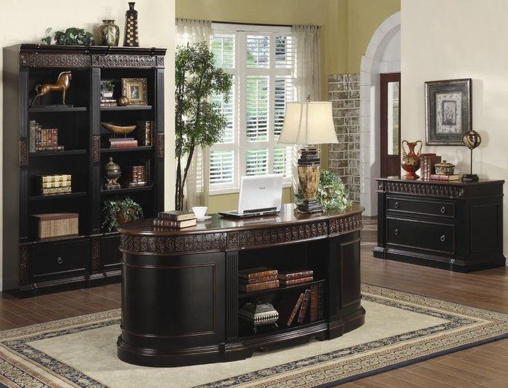 Executive Desk Set - Custom Home Office Furniture Check more at http://michael-malarkey.com/executive-desk-set/