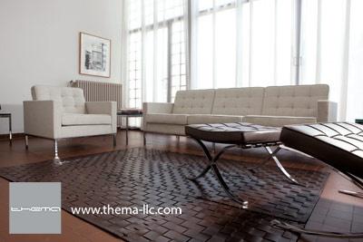 ZANZABAR leather floor rug