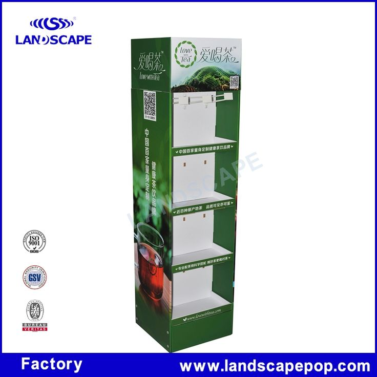 Custom made cardboard tea bag display stand in tea houses #Landscapes, #Around_House